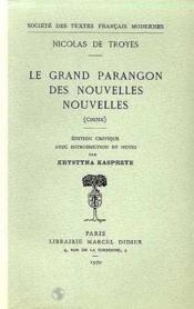 Le Grand Parangon Des Nouvelles Nouvelles - Couverture - Format classique
