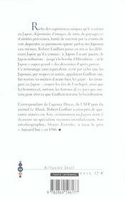 Aventure Japon - 4ème de couverture - Format classique