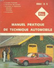 Manuel Pratique De Technique Automobile. Renault 20 Ts - Couverture - Format classique