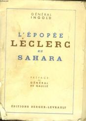 L'Epopee Leclerc Au Sahara 1940-1943 - Couverture - Format classique