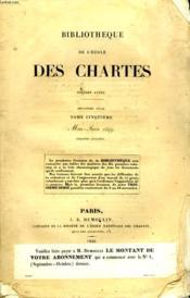 Bibliotheque De L'Ecole Des Chartes - Deuxieme Serie - Tome 5 - Mai - Juin - Couverture - Format classique