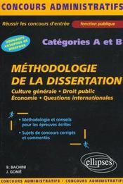 Methodologie De La Dissertation Categories A Et B Concours Externes Et Internes Fonction Publique - Intérieur - Format classique