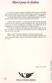 Merci Pour Le Timbre ; Paroles De Prisonniers - 4ème de couverture - Format classique