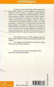 La Stature Humaine ; Sur Des Peintures De Jean Helion - 4ème de couverture - Format classique