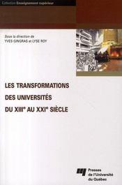 Les transformations des universités du XIII au XXI siècle - Intérieur - Format classique
