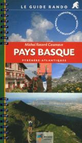 Guide Rando Pays Basque - Couverture - Format classique