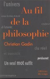Au Fil De La Philosophie - Intérieur - Format classique