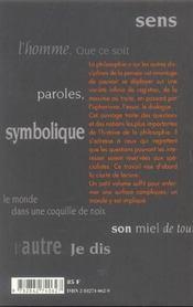 Au Fil De La Philosophie - 4ème de couverture - Format classique