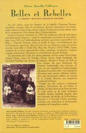 Belles et rebelles ; le roman vrai des chasteau-tinayre - 4ème de couverture - Format classique
