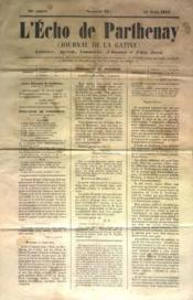 Echo De Parthenay (L') N°35 du 17/08/1873 - Couverture - Format classique
