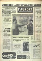 Aurore (L') N°7286 du 02/02/1968 - Couverture - Format classique