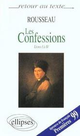 Les confessions (livres i a iv) - Intérieur - Format classique