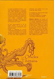 Les oracles tibétains ; coffret - 4ème de couverture - Format classique