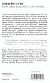 Dernieres Nouvelles Des Choses - 4ème de couverture - Format classique