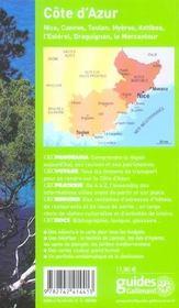 Geoguide ; Cote D'Azur - 4ème de couverture - Format classique