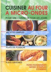 Cuisiner Au Four A Micro-Ondes - Intérieur - Format classique