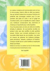 Cuisiner Au Four A Micro-Ondes - 4ème de couverture - Format classique