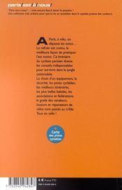 Faire Du Velo A Paris ; Manuel Du Cycliste Urbain - 4ème de couverture - Format classique