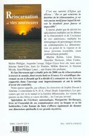 Reincarnation Et Vies Anterieures - 4ème de couverture - Format classique
