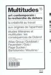 Revue Multitudes T.15 ; Art Contemporain: La Recherche Du Dehors - Couverture - Format classique