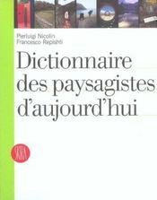 Dictionnaire des paysagistes d'aujourd'h - Intérieur - Format classique