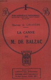 La Canne De M. De Balzac. - Couverture - Format classique