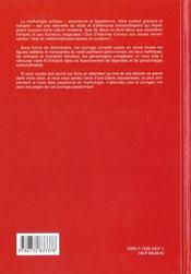 Encyclopedie De La Mythologie - 4ème de couverture - Format classique