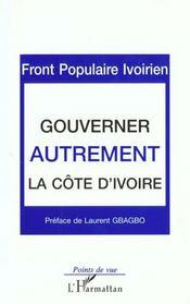 Gouverner Autrement ; La Cote D'Ivoire - Intérieur - Format classique