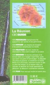 Geoguide ; La Réunion (Edition 2005) - 4ème de couverture - Format classique