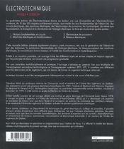 Électrotechnique - 4ème de couverture - Format classique