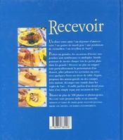 Recevoir - 4ème de couverture - Format classique