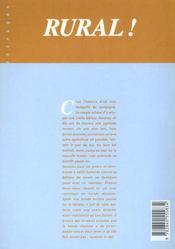 Rural t.1 ; chronique d'une collision politique - 4ème de couverture - Format classique
