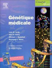 Génétique médicale - Couverture - Format classique