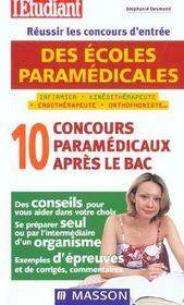 Réussir le concours d'entrée des écoles paramédicales - Intérieur - Format classique