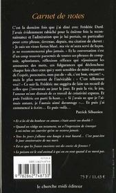 Carnet De Notes - 4ème de couverture - Format classique