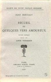 Recueil De Quelques Vers Amoureux - Couverture - Format classique