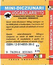 Romanche-italien (mini dico) - 4ème de couverture - Format classique