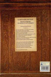 Le bestiaire sauvage ; histoire et légendes des animaux de nos campagnes - 4ème de couverture - Format classique