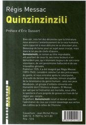 Quinzinzinzili - 4ème de couverture - Format classique