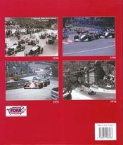 Grand Prix De Monaco - 4ème de couverture - Format classique