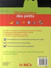 Zelda ; dictionnaire des petits - 4ème de couverture - Format classique