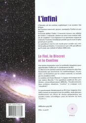 L'infini ; le fini le discret le continu - 4ème de couverture - Format classique