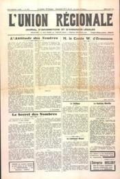 Union Regionale (L') N°1136 du 06/06/1940 - Couverture - Format classique