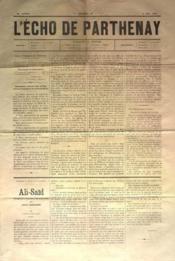 Echo De Parthenay (L') N°18 du 04/05/1876 - Couverture - Format classique