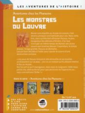 Aventures chez les pharaons ; les monstres du Louvre - 4ème de couverture - Format classique
