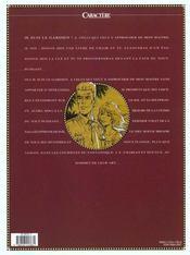 Fox t.4 ; le dieu rouge - 4ème de couverture - Format classique