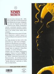 Ninon secrète t.1 ; duels - 4ème de couverture - Format classique