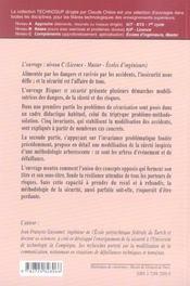 Securite Risques Et Securite Invariance Problematique Et Arborescence Methodologique - 4ème de couverture - Format classique