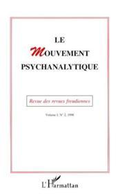 Le Mouvement Psychanalytique T.1-2 - Couverture - Format classique