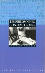 Les philosophes contemporains - Couverture - Format classique